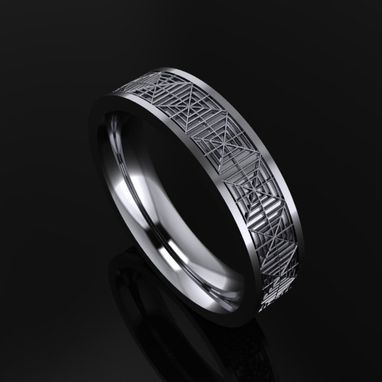 Custom Made Ring With Web Design