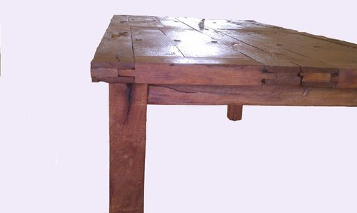 Custom Made Antique Mesquite Door Dinning Table