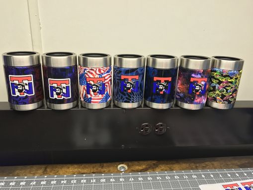 Custom Made Hydro-Dipped Tumblers And Koozies