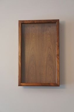 Custom Made Shadow Box-Solid Maple And Walnut