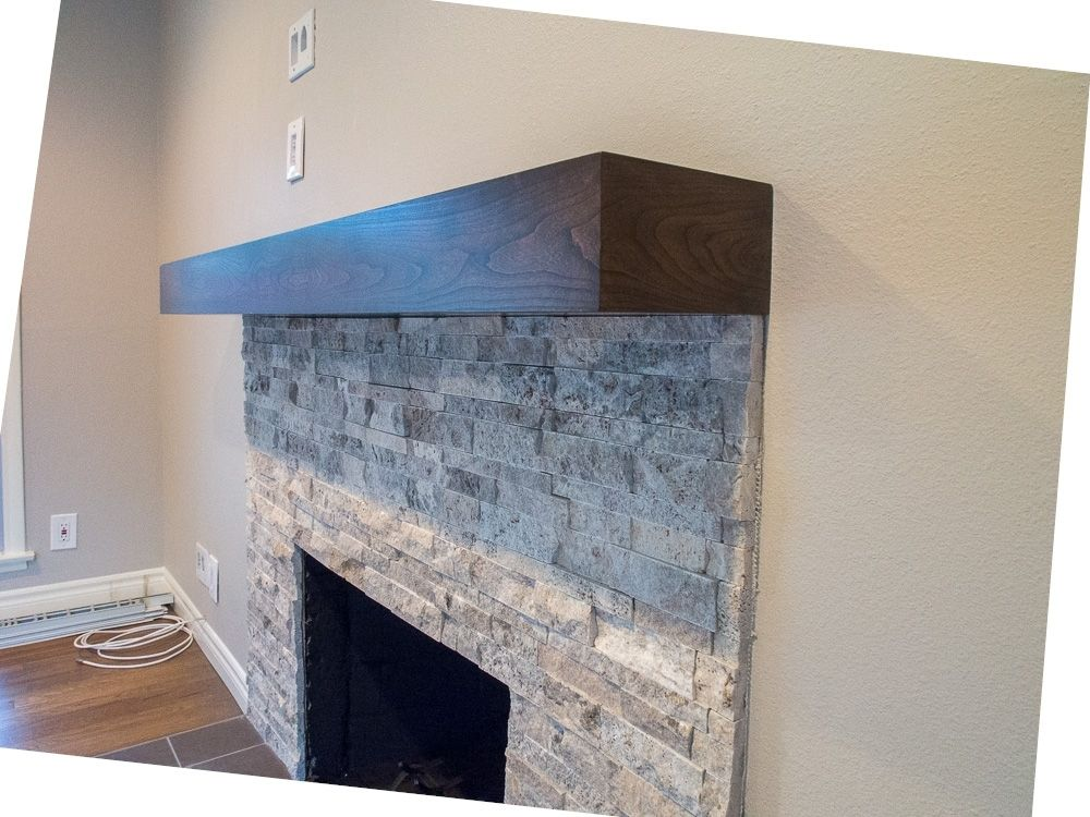 Custom Made Cherry Modern Beam Fireplace Mantel