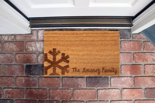 Custom Made Custom Door Mats --Dm-Coir-Jimenezfamily