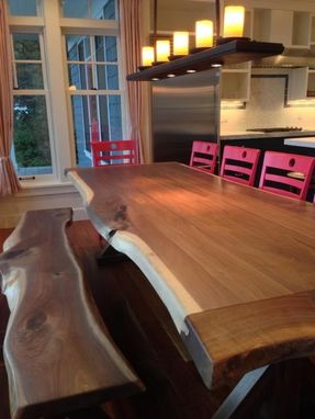 Custom Made Black Walnut Live Edge Dining Table