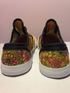 Custom Made Custom Made Tie Dye Shoes With Flower Design