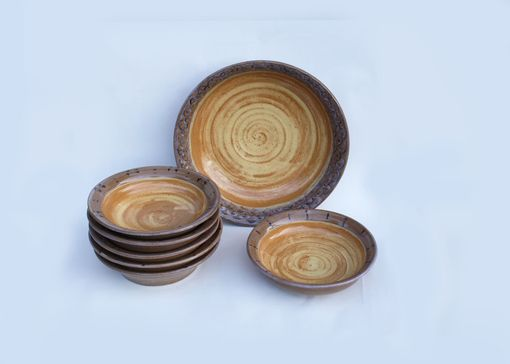 Custom Made Plate And Serving Bowl Set
