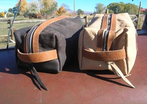 Custom Made Leather Dopp Kit - Man's Shaving Kit