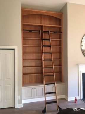 Custom Made Custom Cherry Bookcase.