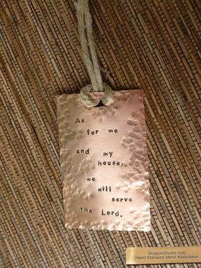 Custom Made Christmas Copper Ornament