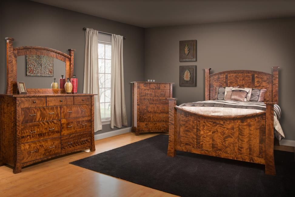 Buy a Custom Linmore Bedroom Collection In Flame Birch, made to ...