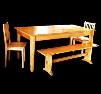 Custom Made Maple Dining Table Set