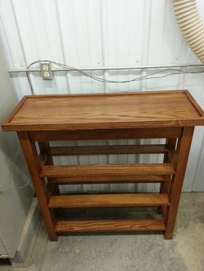 Custom Made Entrance Way Bench With Shoe Storage Shelves.