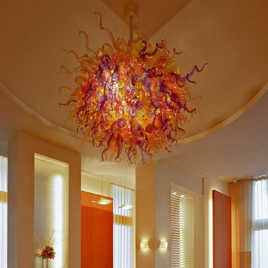 Custom Made 'Large Restaurant Chandeliers' | Hand Blown Glass Art Chandeliers - Custom Chandeliers