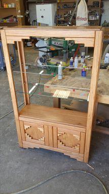 Custom Made Southwest Display Cabinet