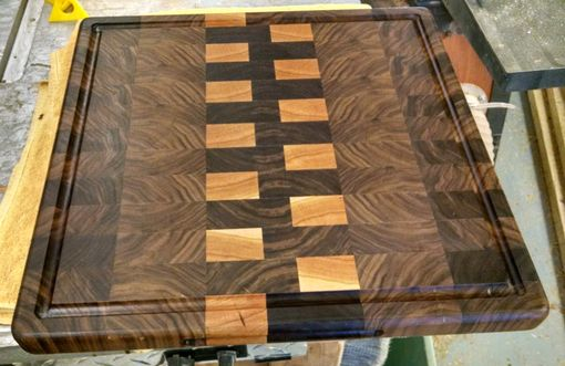 Custom Made Walunt And Maple Cutting Board