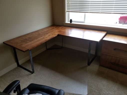 Custom Made Matching Desk And Filing Cabinet