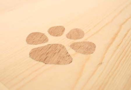 Custom Made Country Nightstands Set Featuring Inlaid Animal Tracks