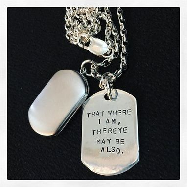 Custom Made Custom Thick Sterling Men's Locket And Dog Tag Necklace