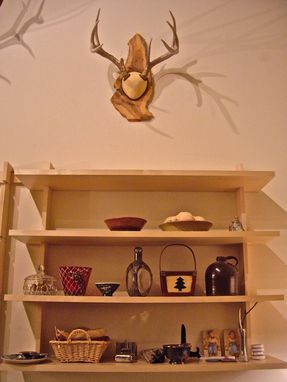 Custom Made Contemporary Hanging Shelves