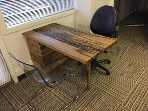 Custom Made Black Limba 4 Drawer Desk.
