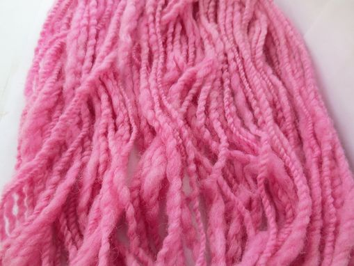 Custom Made Hand Spun Pink Yarn / Handspun Wool Yarn / Hand Spun Hand Dyed Yarn / Handspun Wool Yarn