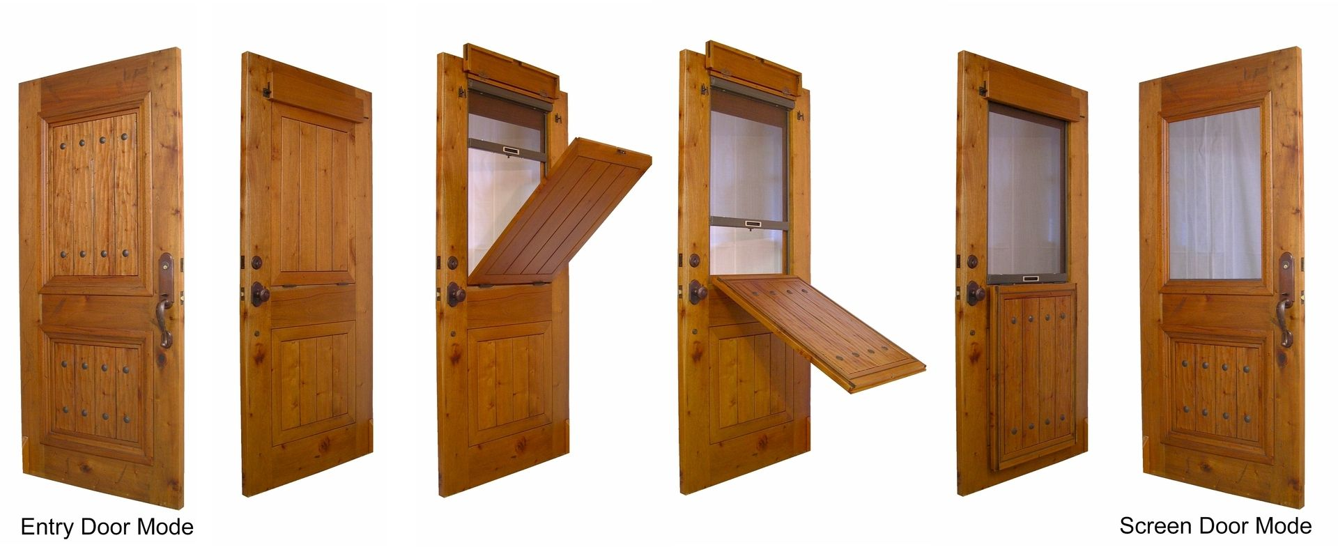 Hand crafted the breeze entry door by christie 39 s wood and for Entry door with built in screen