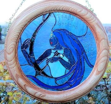 Custom Made Stained Glass Zodiac Panels