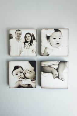 Custom Made Custom Photo Art, Family Portrait, Set Of 4
