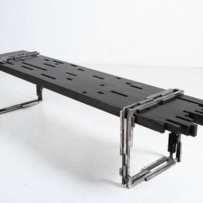 Industrial Modern BenchIndustrial Benches   CustomMade com. Modern Metal Benches Indoor. Home Design Ideas