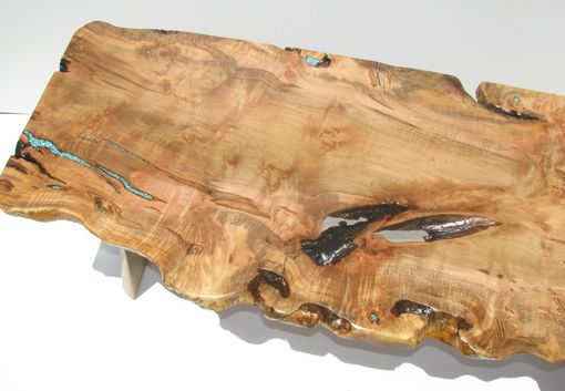 Custom Made Ambrosia Maple Burl Coffee Table