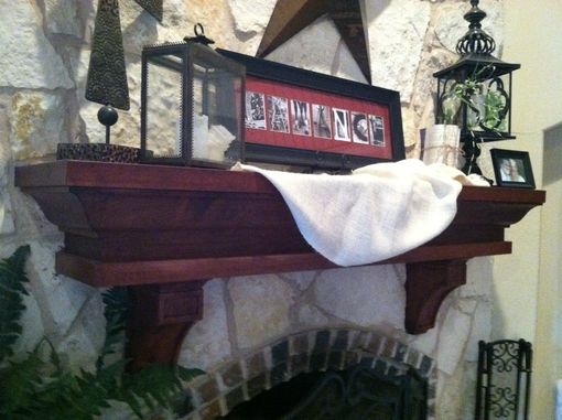 Custom Made Cherry Fireplace Mantle