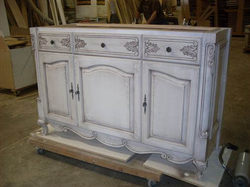 Custom Made Traditiona Hand Carved Custom Vanity