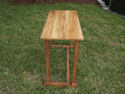 Custom Made Ash Hardwood Mortise And Tenon Writing Desk