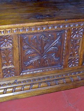 Custom Made Carved Catalonian Bride's Chest