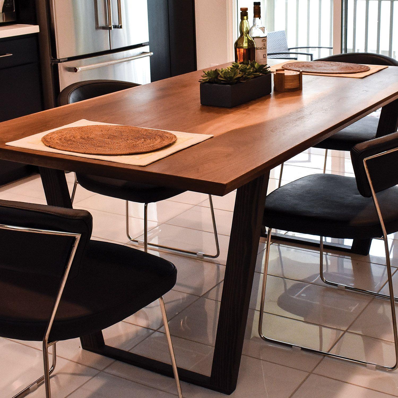 Custom Modern Walnut Dining Table By, Walnut Dining Room