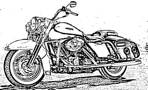 Custom Made Custom Motorcycle Hand Etched 4