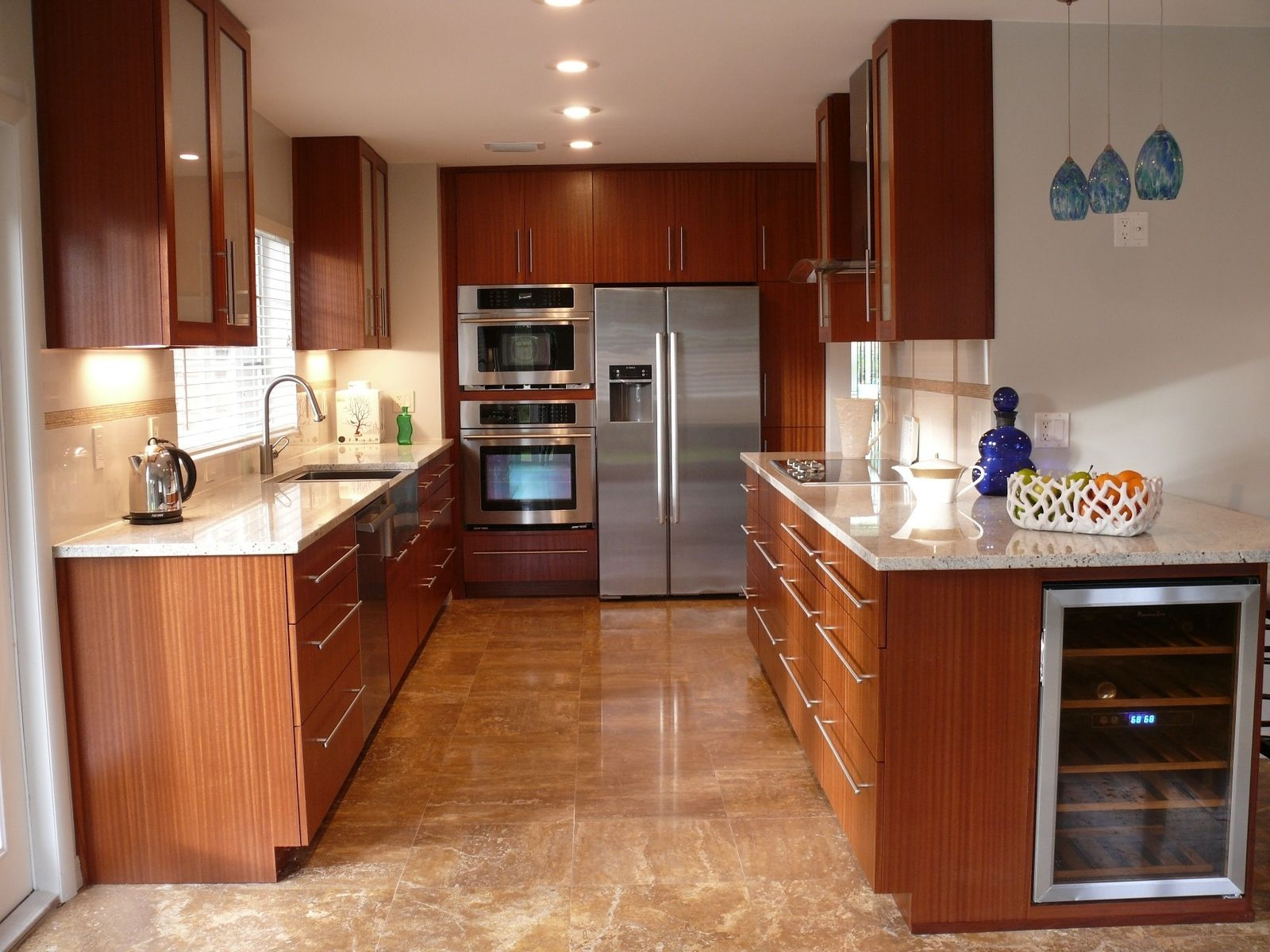 Custom modern mahogany kitchen cabinets by natural mystic for Contemporary oak kitchen cabinets