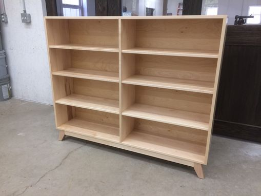 Custom Made Solid Maple Bookcase With Dovetail Construction