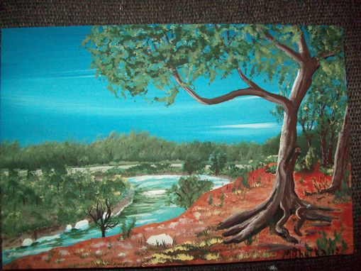 Custom Made Original Painting Red Bluff Bastrop
