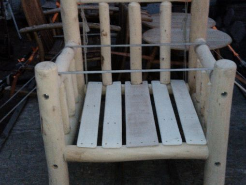 Custom Made Log Pole Willow Chair
