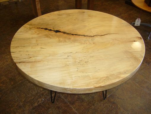 "Custom Made 46"" Round Spalted Maple Coffee Table"