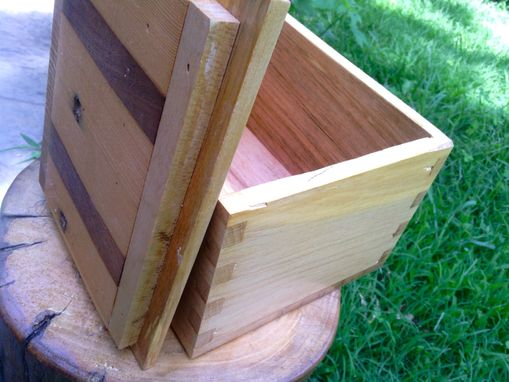 Custom Made Repurposed Dovetail Box In Ash And Walnut