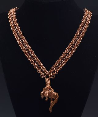 Custom Made Copper Ingot Necklace