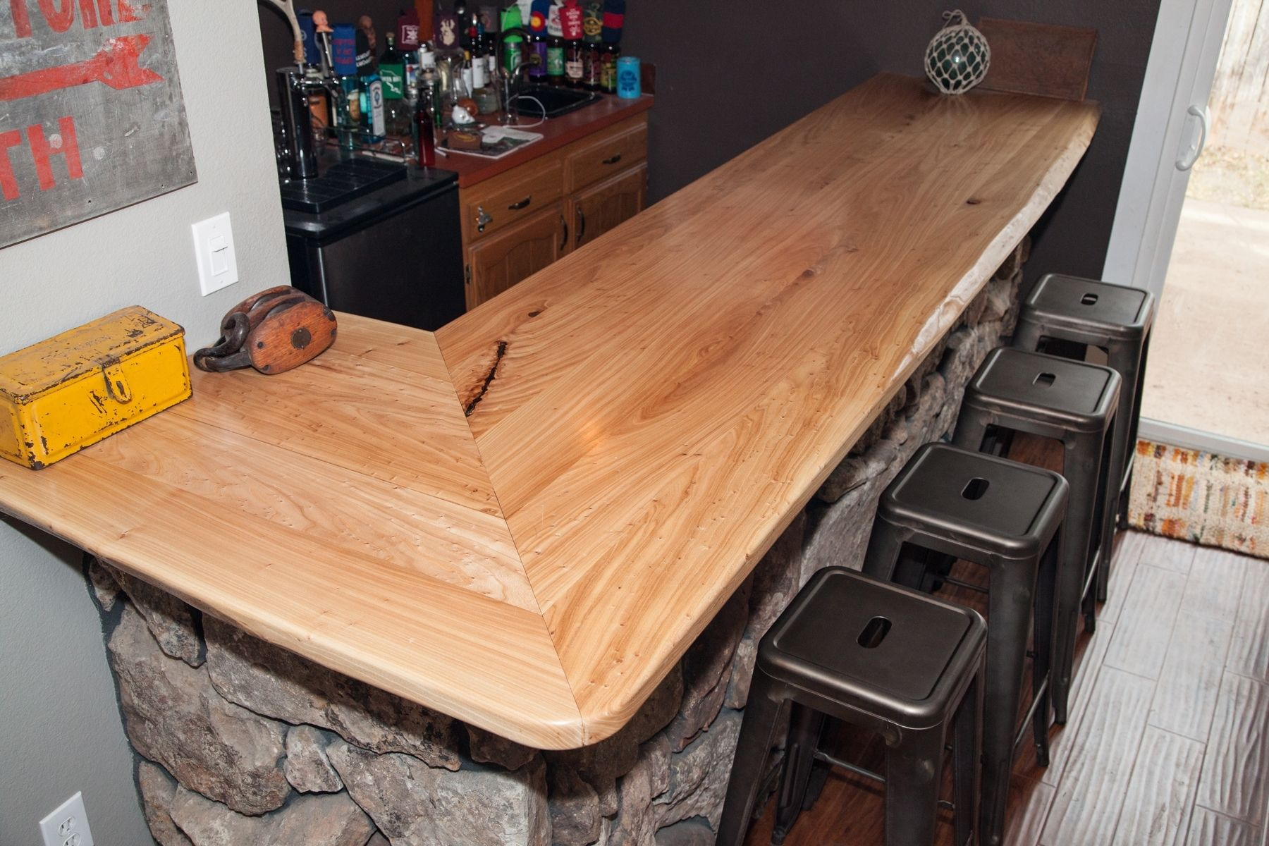 Handmade Residential Bar Top by Yendrabuilt | CustomMade.com
