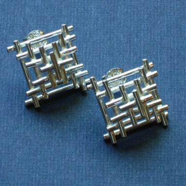 Custom Made Sterling Small Temple Studs
