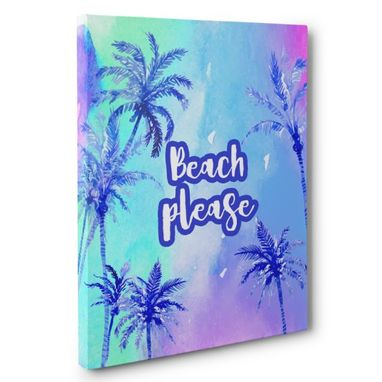 Custom Made Beach Please Canvas Wall Art