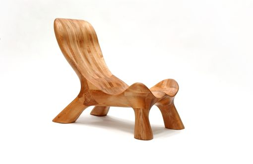 Custom Made Curvechair  (Organically Carved Solid Wood Furniture)