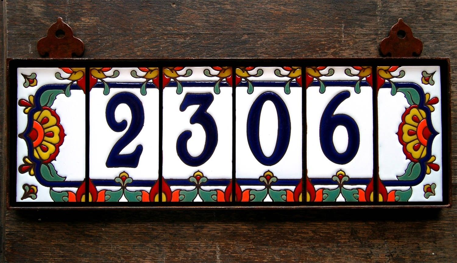 Hand made address numbers by carly quinn designs custommade com