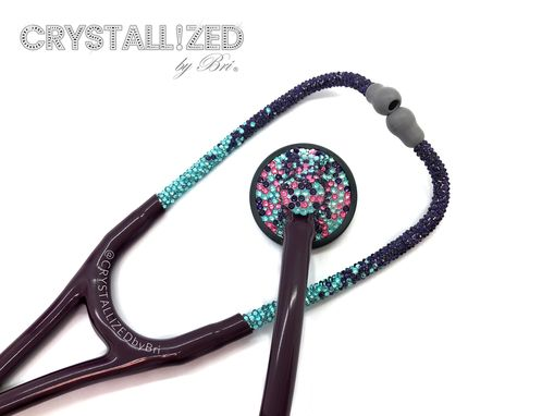 Custom Made Ombre Crystallized Littmann Master Cardiology Stethoscope Nurse Bling Swarovski Crystals Bedazzled
