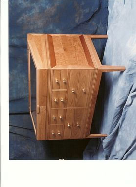 Custom Made Curly Cherry Dresser/Display Case