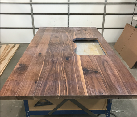 Custom Made Dark Walnut Island Top (Counter Top / Bar Top)
